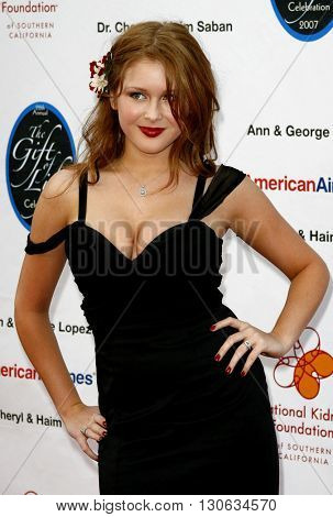 Renee Olstead at the National Kidney Foundation of Southern California's 28th Annual Gift of Life Celebration held at the Warner Bros. Lot in Burbank, USA on April 29, 2007.