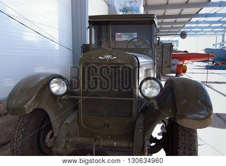 MURMANSK, Russia - July 03, 2013, Soviet Truck ZIS-5, Murmansk