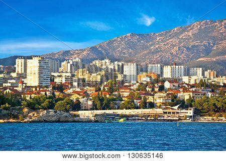 City of Split waterfront view from sea Dalmatia Croatia