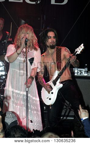 Dave Navarro and Courtney Love during 'Camp Freddy' Tsunami Relief Benefit Concert held at the Key Club Sunset Strip in West Hollywood, USA on January 27, 2005.