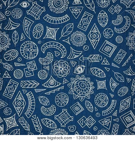 seamless abstract or tribal ethnic pattern vector illustration