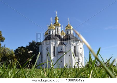 Golden domes of the Christian church of the 18th century.