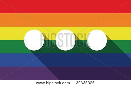 Long Shadow Gay Pride Flag With  An Ellipsis Orthographic Sign