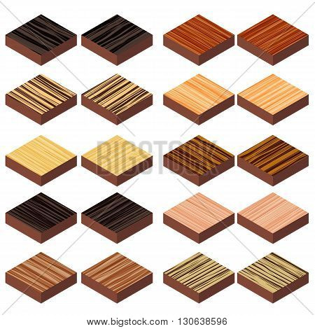 isometric zebrano wood floor 3d decorate for game