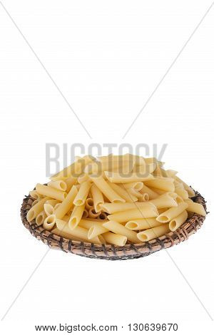 Vermicelli on the plate isolated on a white background