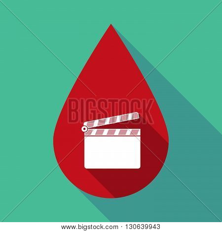 Long Shadow Blood Drop With A Clapperboard