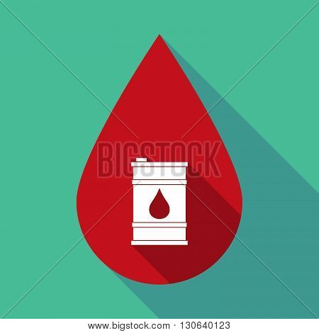 Long Shadow Blood Drop With A Barrel Of Oil