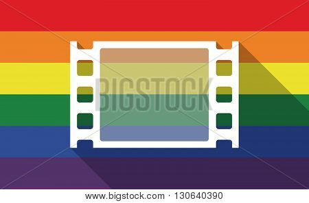 Long Shadow Gay Pride Flag With A Film Photogram