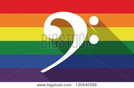 Long Shadow Gay Pride Flag With An F Clef