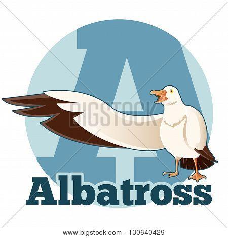 Vector image of the ABC Cartoon Albatross