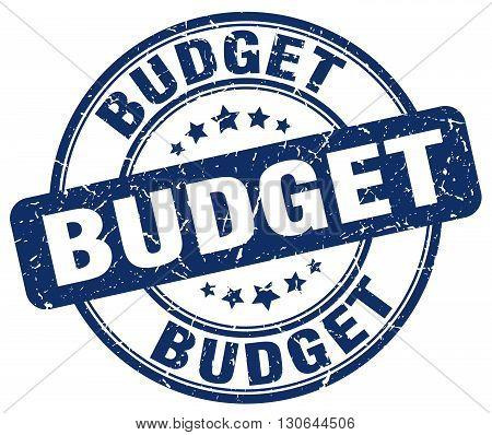 budget blue grunge round vintage rubber stamp