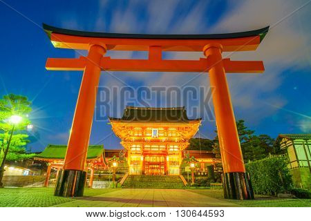 Fushimiinari Taisha ShrineTemple in Kyoto, Japan