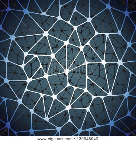 Beautiful abstract seamless pattern. Geometric objects like a spiderweb. Vector illustration.