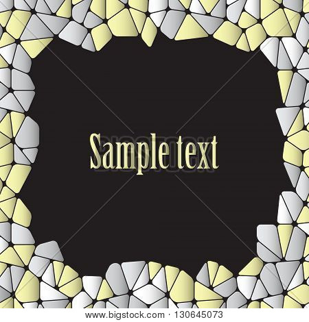 Card design with abstract pattern and space for text. Vector Image.