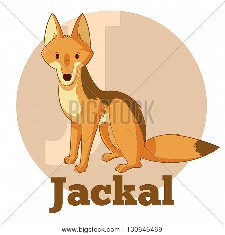 Vector image of the ABC Cartoon Jackal