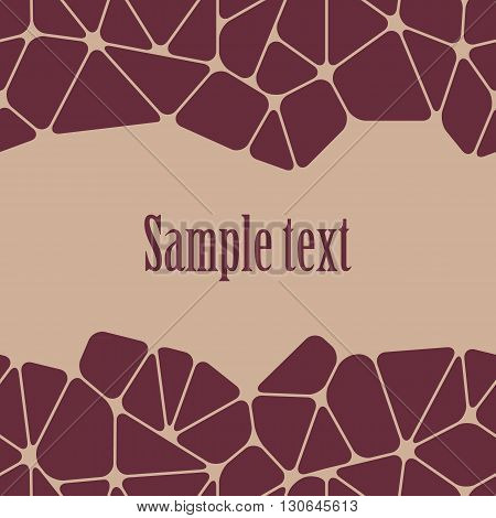 Beautiful abstract background with space for your text. Geometric seamless pattern. Vector illustration.