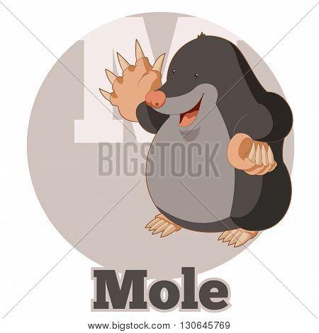 Vector image of the ABC Cartoon Mole