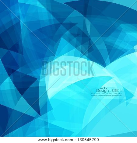 Abstract background with blue chaotic stripes corner. Concept new technology and dynamic motion. Digital Data Visualization. For cover book, brochure, flyer, poster, magazine, booklet, leaflet