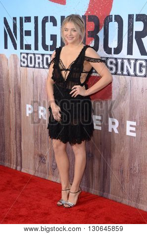 LOS ANGELES - MAY 20:  Chloe Grace Moretz at the Neighbors 2: Sorority Rising American Premiere at Village Theater on May 20, 2016 in Westwood, CA