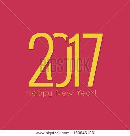 2017 Happy new year background. for greeting card, flyer, invitation, poster, brochure, banner, calendar, Christmas Meeting events