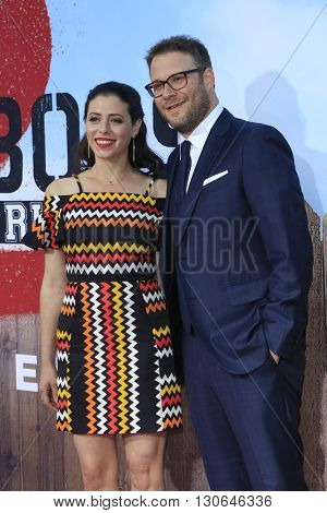 LOS ANGELES - MAY 20:  Lauren Miller, Seth Rogen at the Neighbors 2: Sorority Rising American Premiere at Village Theater on May 20, 2016 in Westwood, CA