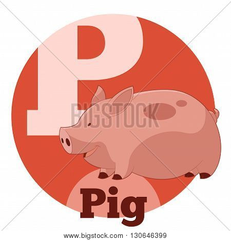 Vector image of the ABC Cartoon Pig