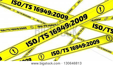 Yellow warning tapes with inscription