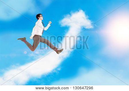 Success Concept Arrow Cloud