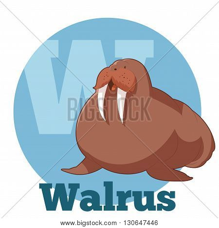 Vector image of the ABC Cartoon Walrus