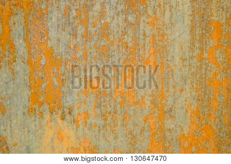 Wooden surface painted abstract orange wood background