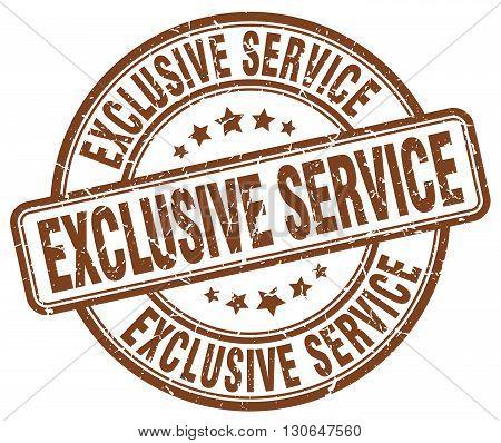 exclusive service brown grunge round vintage rubber stamp