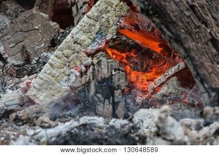The Last Coals Of A Burning-down Fire