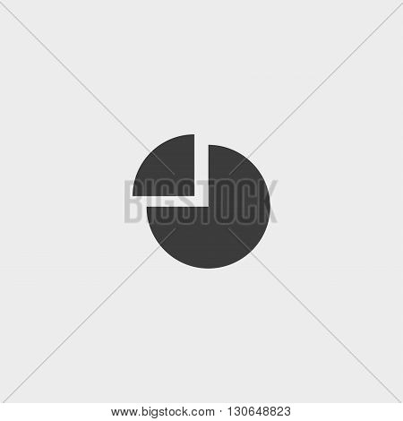 Diagram Icon in a flat design in black color. Vector illustration eps10