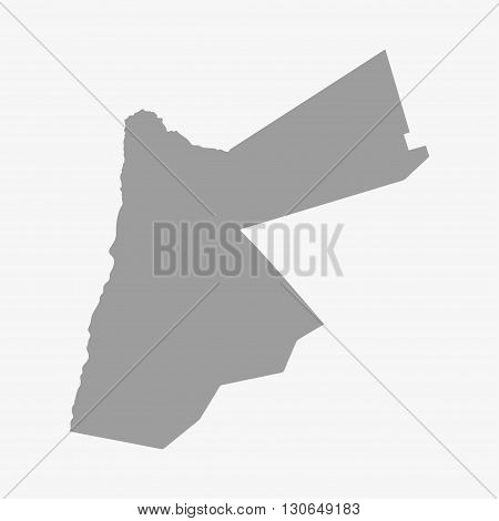 Jordan map in gray on a white background