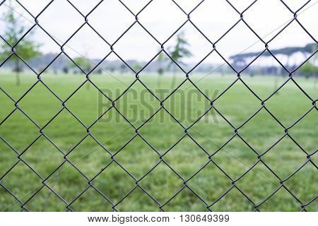 Italy, Rome, Acquedotto Claudio - A wire mesh between me and the wonderful Acqueducts Park