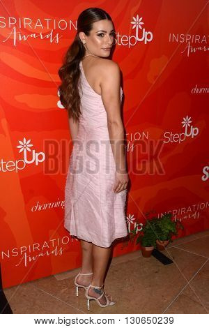 LOS ANGELES - MAY 20:  Lea Michele at the Step Up Inspiration Awards at Beverly Hilton Hotel on May 20, 2016 in Beverly Hills, CA