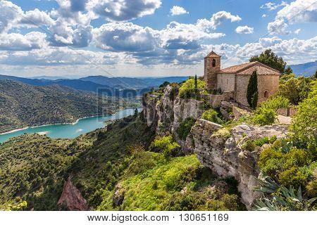View Of The Romanesque Church Of Santa Maria De Siurana In Catalonia
