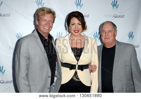 LOS ANGELES - MAY 19:  Nigel Lythgoe, Joely Fisher, Neil Sedaka at the BabyQuest Fundraiser Gala at Private Estate on May 19, 2016 in Toluca Lake, CA