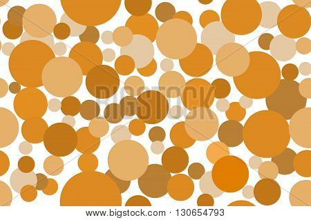 Classic dotted brown color seamless pattern illustration background