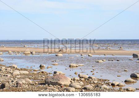 Rocks on the coast of Baltic Sea.