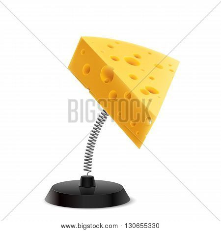 Table souvenir in form of cheese piece on spring