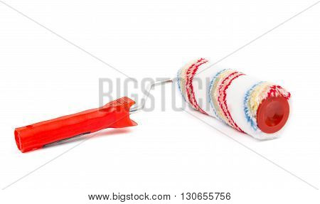 paint roller brush isolated on white background