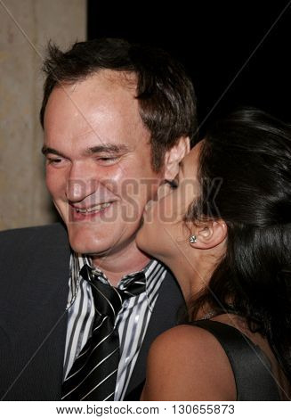 Quentin Tarantino and Vanessa Ferlito at the 57th Annual ACE Eddie Awards held at the Beverly Hills Hotel in Beverly Hills, USA on February 18, 2007.