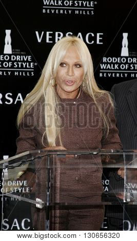 Donatella Versace at the Gianni and Donatella Versace Receive Rodeo Drive Walk Of Style Award held at the Rodeo Drive in Beverly Hills, USA on February 8, 2007.