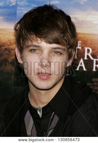 Max Thieriot at the Los Angeles premiere of 'The Astronaut Farmer' held at the Cinerama Dome in Hollywood, USA on February 20, 2007.