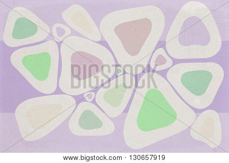 Colored Round Triangles Texture