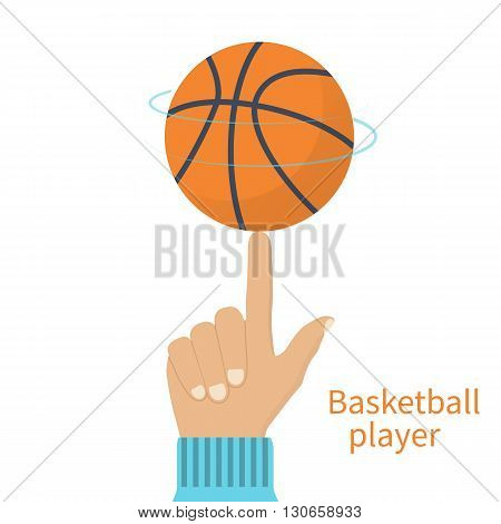 Basketball Player Spinning Ball