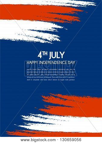 Vector Illustration of  a Independence Day of america Design. 4th of July poster
