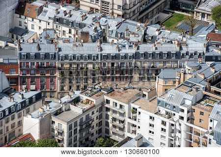 Paris Building City View Aerial Landscape From Montparnasse