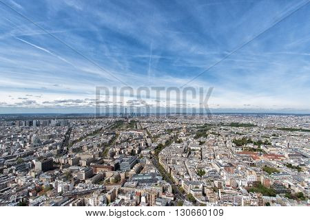 Paris Building City View Aerial Landscape From Tower